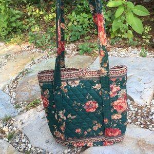 Vintage VERA BRADLEY Green Floral Tote